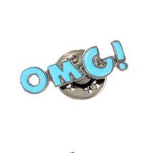 5/$24 Blue OMG! Pin Brooch